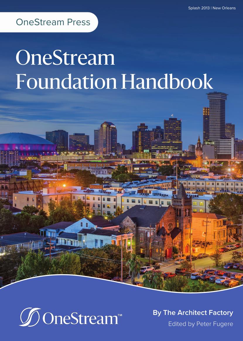 OneStream XF Foundation Handbook